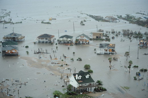 Hurricane Ike destroyed 100,000 homes and businesses.  Many rebuilt; some never did.