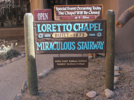 Entrance to Loretto Chapel