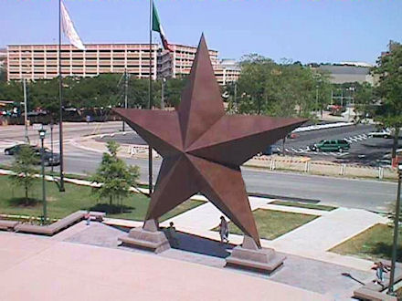 The giant lone star at the Bob Bullock Museum