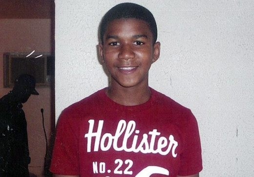 Photo of Trayvon Martin in the public domain as given permission by his family.
