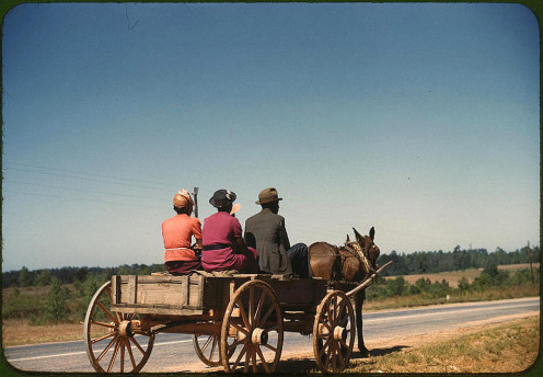 Greene County, Georgia, 1940, family heading to town on a Saturday evening.