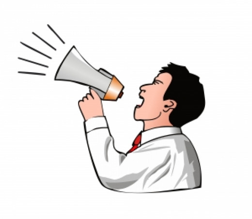 A megaphone has very little benefit in an empty gymnasium.