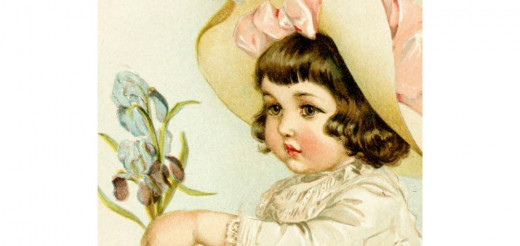 Image of a pretty little girl adapted from an archive image on Flickr