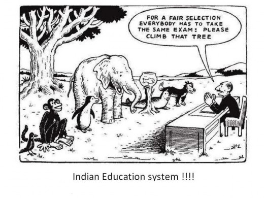 The photo clearly depicts thecurrent scenario of Indian Education System.
