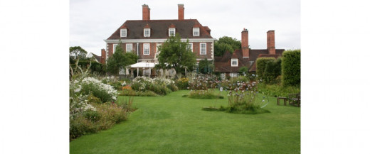 The Salutation manor house and a small part of the Secret Gardens
