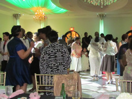 Dancing was enjoyed by the guests.