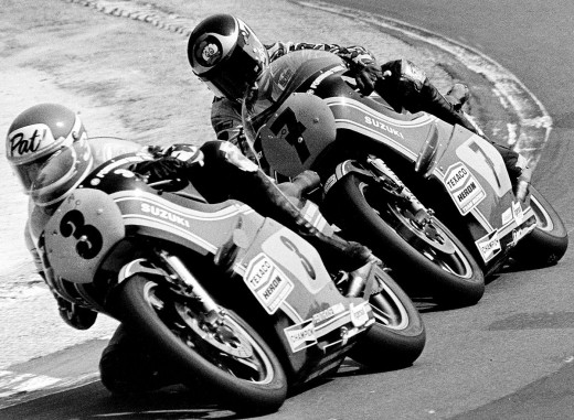 Pat Henne (no 3) and Barry Sheene (no 7) in 1978