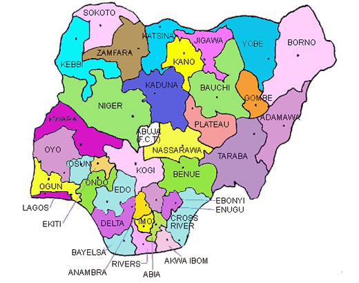 Nigeria and her 36 states