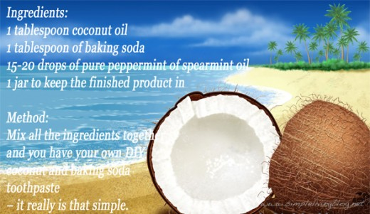 Coconut Oil and Baking Soda Toothpaste Recipe
