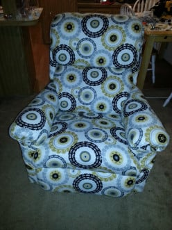 How to reupholster an old recliner.