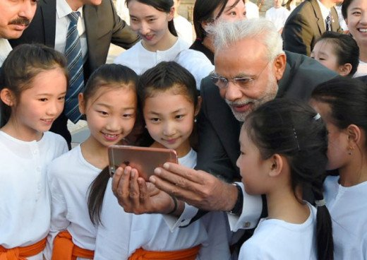 Selfie of Modi with Children
