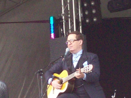 Earl Okin performing at 'The Secret Garden Party' festival