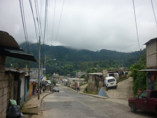 Santo Tomas - the road out of the village I lived in in Guatemala in 2010.