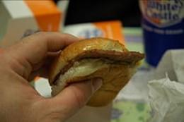 White Castle hamburger (slider)