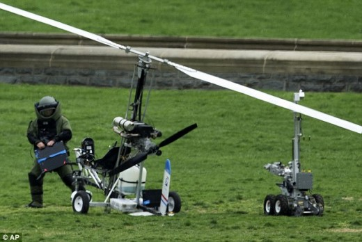 The bomb squad could not defuse the explosive words packed aboard Doug Hughes' Gyrocopter