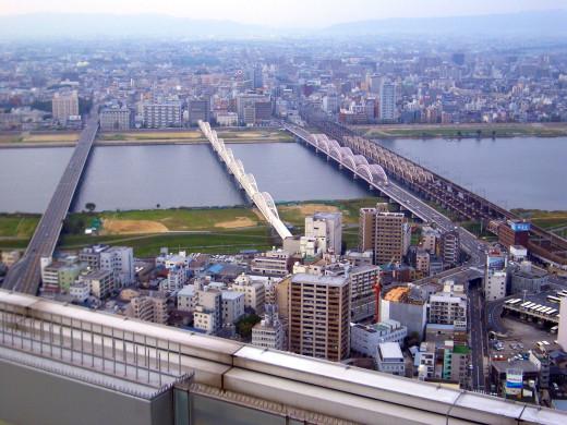 Yodogawa River Osaka Japan