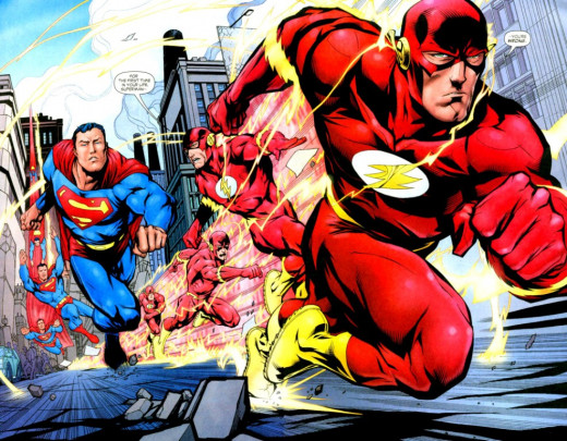 Wally West powers would allow him to defeat Superman