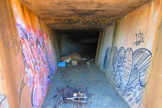 Use this tunnel when it rains, Suma Beach Hyogo Japan