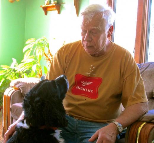 Bob and Hunter at Home.