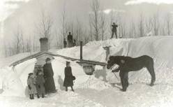 Winter time in a homesteader settlement.