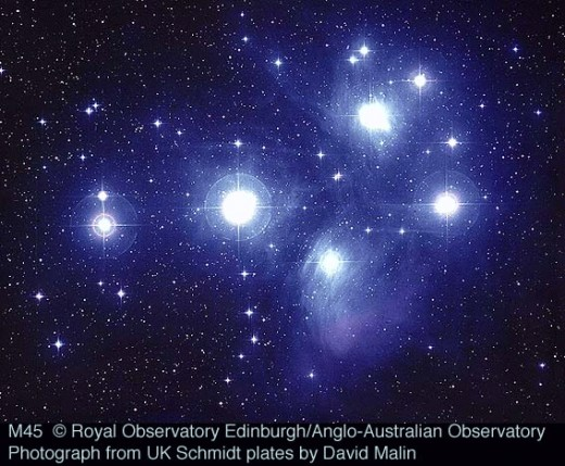 Messier 45 or the Pleiades