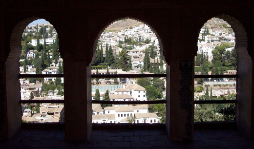 View from the Nazrid Palaces