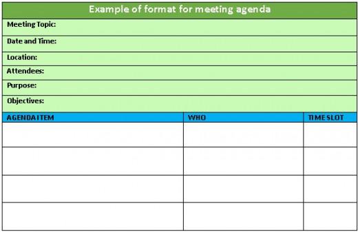Example of Agenda Format