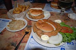 Fried Cow Brain Sandwich