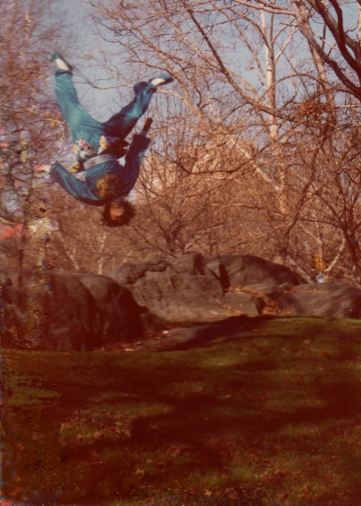 Another example of how high my friend can leap.  He looks like he is levitating.