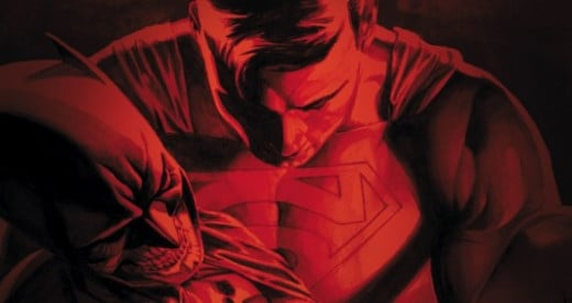"Superman was carrying a ""dead"" body of Batman"