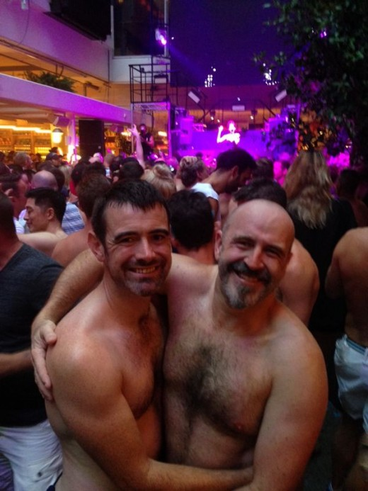 Shirtless bears at a well known Sydney dance party