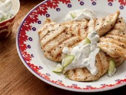 Grilled Chicken Breasts With Yoghurt And Cucumber