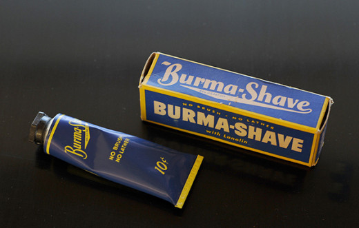 A look at a tube of Burma Shave