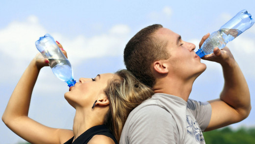 Drink a lot of water, its actually good for your skin
