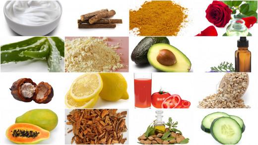 Natural skin herbs and fruits