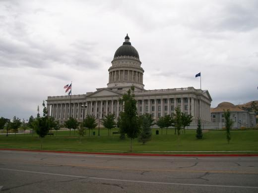 Utah State Capitol in Salt Lake City. Part of America the Beautiful