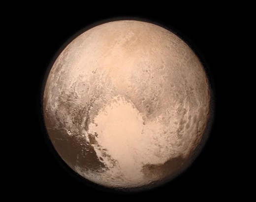 The planet Pluto, the first HD  picture ever taken.