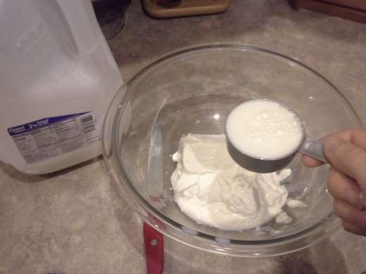 Step Three: Add your milk