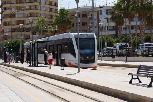 One of three tram stops in Villajoyosa