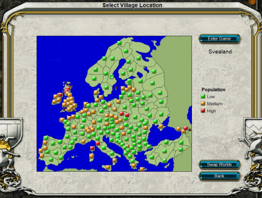 Stronghold Kingdoms World Map View