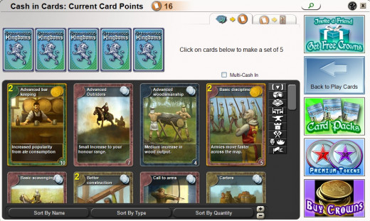 You can buy and trade cards in Stronghold Kingdoms