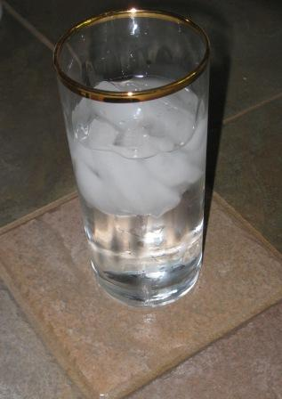 refreshing glass of ice water