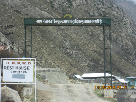 Entrance to Chitkul