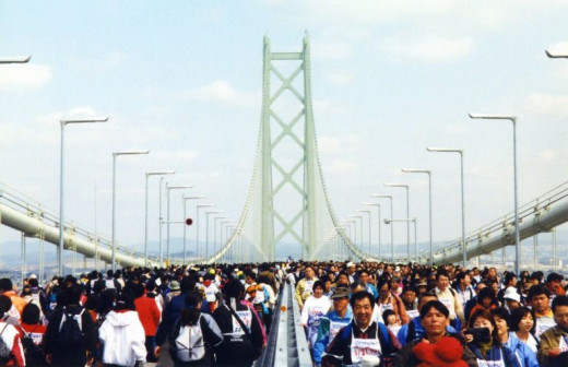 Akashi Kaikyo Bridge Walk 1998 Hyogo Japan