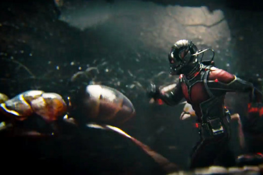 Ant Man running with his posse