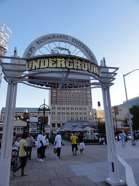 The Underground in Atlanta, Georgia.