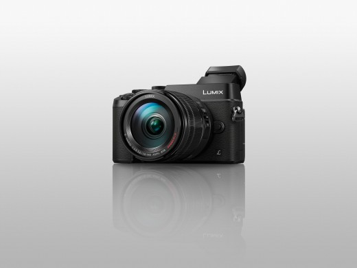 The Panasonic Lumix DMC-GX8 Mirrorless Digital Camera, shown in Black. It's also available in Silver.