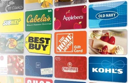 Earn free gift cards through websites or apps.