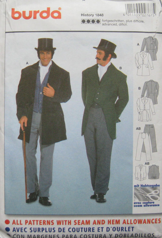 Pattern used for vest, pants and jacket