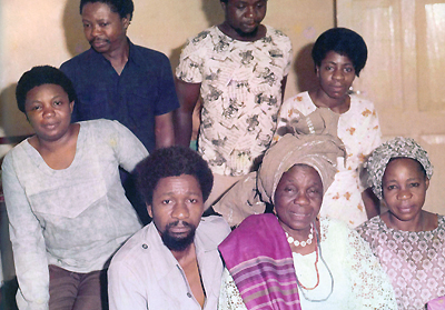 Wole Soyinka and family